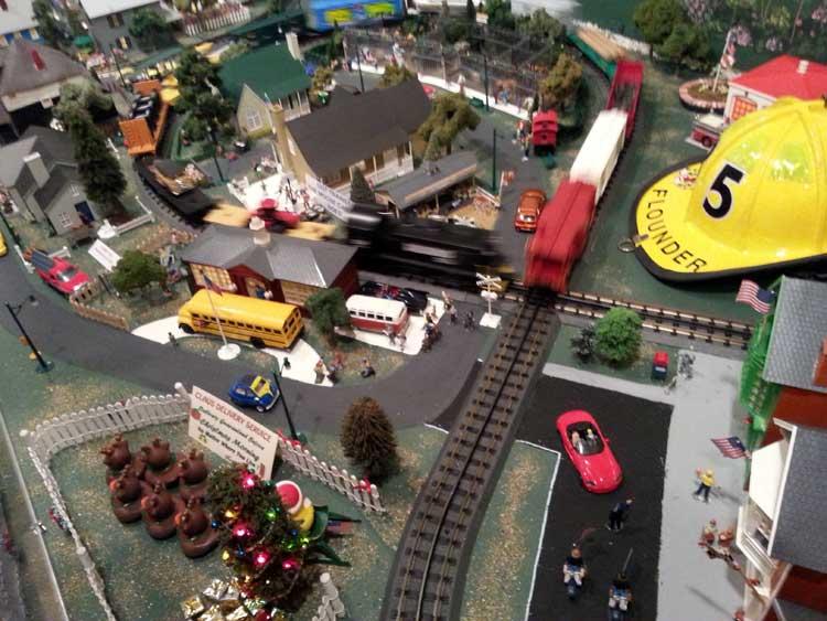 Arbutus Volunteer Fire Department Train Garden