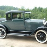 Betty and Richard Fisher, 1929 Business Coupe
